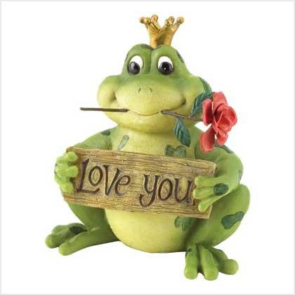 """Love You"" Frog Prince Figurine"
