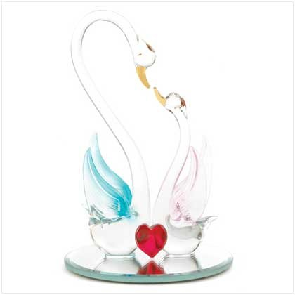 Spun Glass Loving Swans