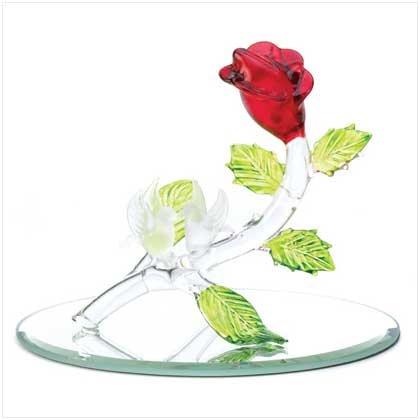 Love's Landing Glass Figurine