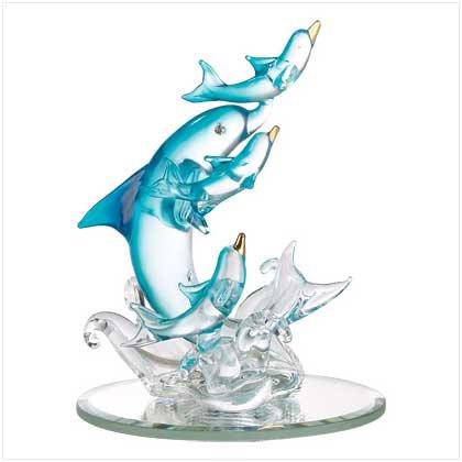 Spun-Glass Dolphin Figurine
