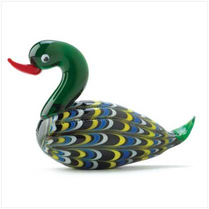 Art Glass Mallard Figurine