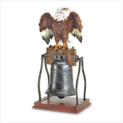 Eagle On Bell Figurine