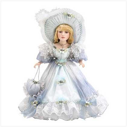 Blue Bonnet Victorian Doll