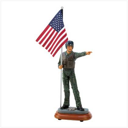 Air Force Flag Bearer Figurine