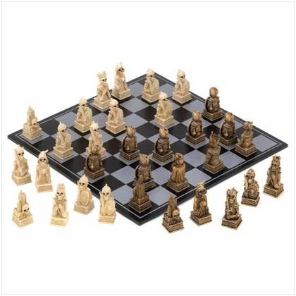 Skull Warrior Chess Set