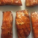 wild caught smoked atlantic salmon Honey glazed sweet and savory fresh fish