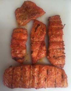 Wild caught smoked atlantic salmon Sriracha- garlic mix 8 ounce