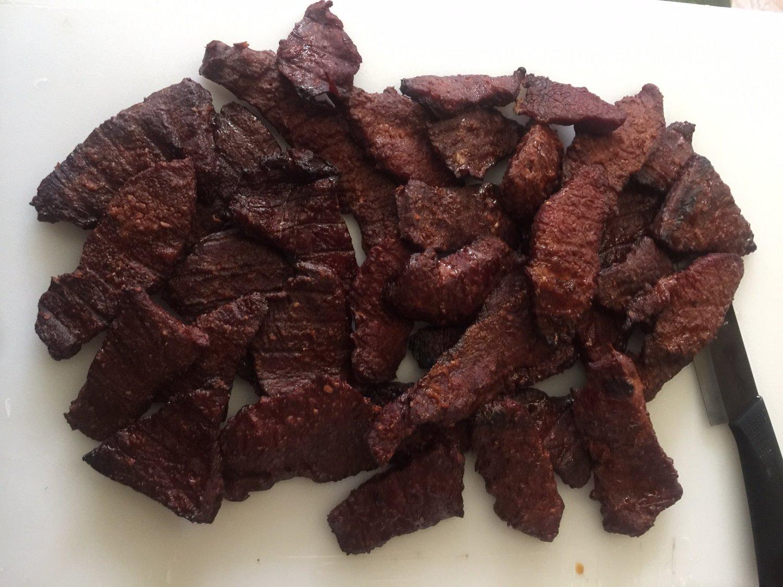 Garlic- Parmasean Smoked beef jerky 8 oz package Fathers Day Artisan Made Fresh