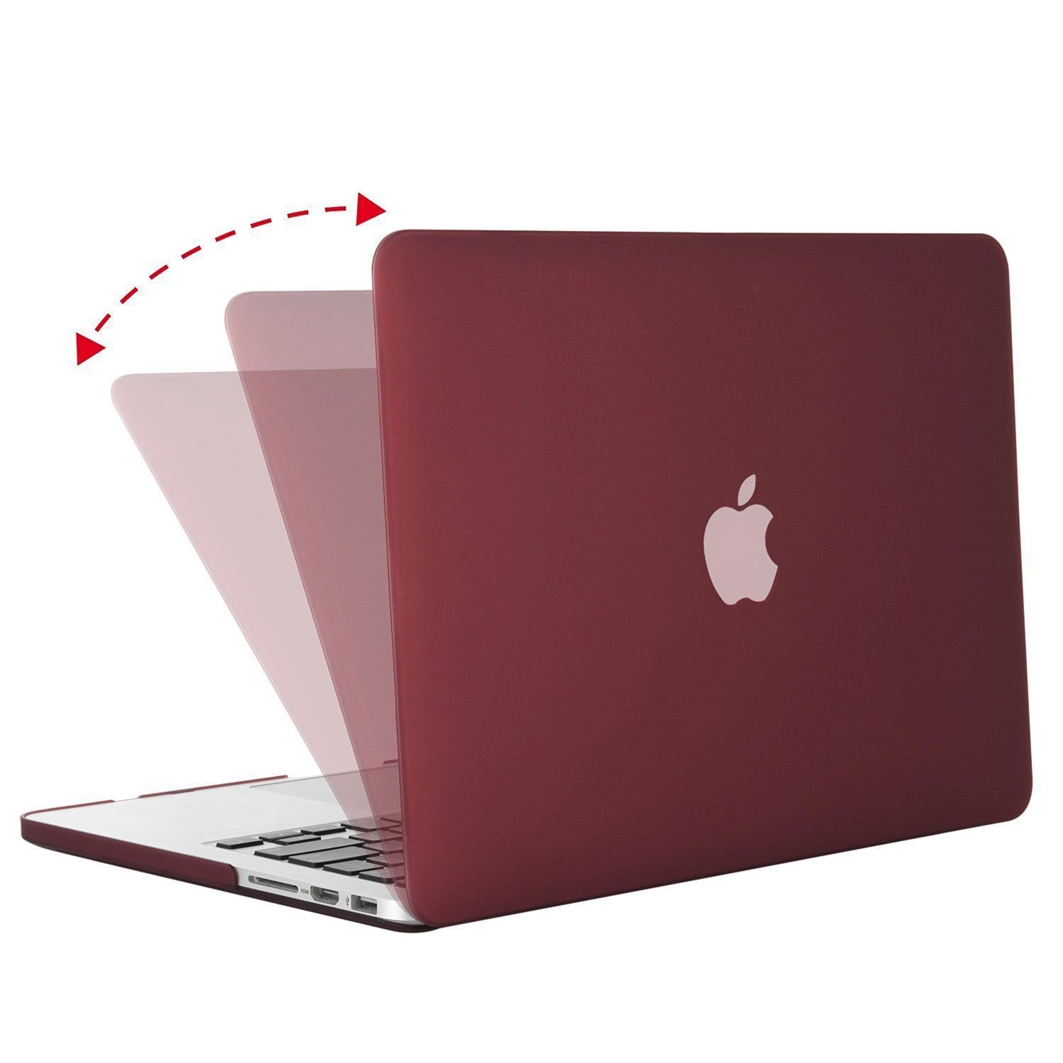 """13.3"""" MOSISO WINE RED Matte Case for MacBook Air Laptop 9 COLORS FAST FREE SHIPPING USA"""