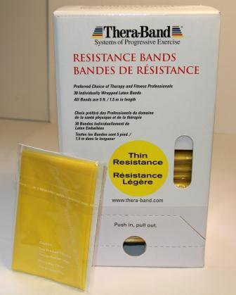 Yellow - Thin Strength - Individual 5 Feet Cut Exercise Resistance Bands by Thera-Band(TM)