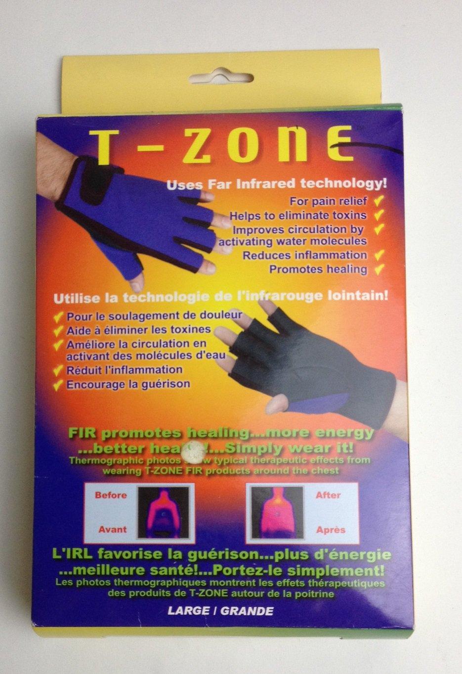 FIR (Far Infrared) 3/4 Finger Gloves-Large