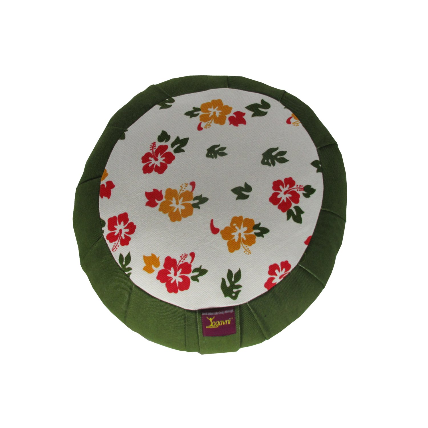 Round Meditation Zafu with Flower Print