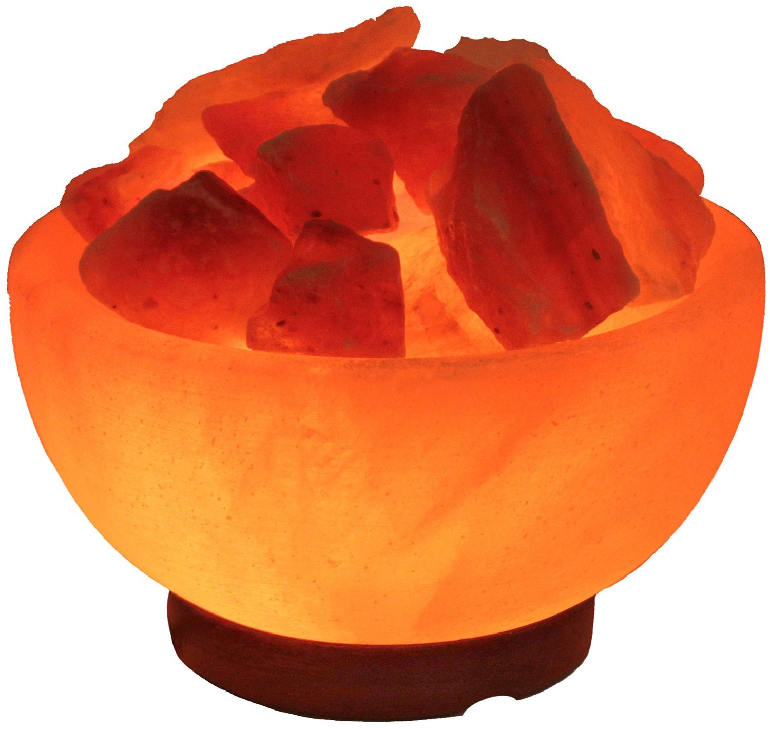 Himalayan Salt Crystal Fire Bowl Lamp � Medium (Aprox 6 Inch)