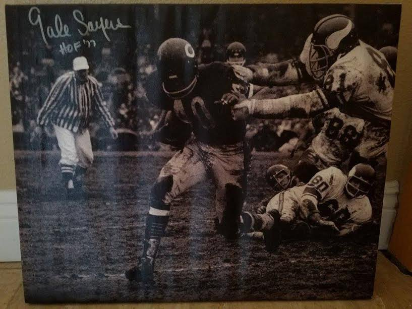 GALE SAYERS CANVAS PRINT MOUNTED  $99