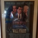 WALL STREET CAST SIGNED MOVIE POSTER MICHAEL DOUGLAS, CHARLIE SHEEN, DARRYL HANNAH