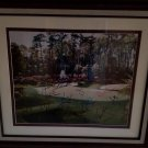 AUGUSTA NATIONAL GOLF LITHO SIGNED BY 18 MASTERS CHAMPIONS, NICKLAUS, PALMER, WOODS ETC