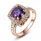 Rings for women Engagement anel finger rings Exquisite Square purple Crystal women wedding SY181