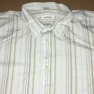 Calvin Klein Button Up Casual Collar Long Sleeve Stripe Shirt XXL