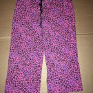 Joe Boxer Pajamas Black Pink Leopard Pattern Size Small