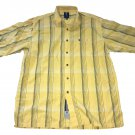 Phat Farm Plaid Throwback Black Yellow Button Up Stripe XL