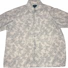 Claiborne Casual Short Sleeve Button Up Linen Shirt Size Large