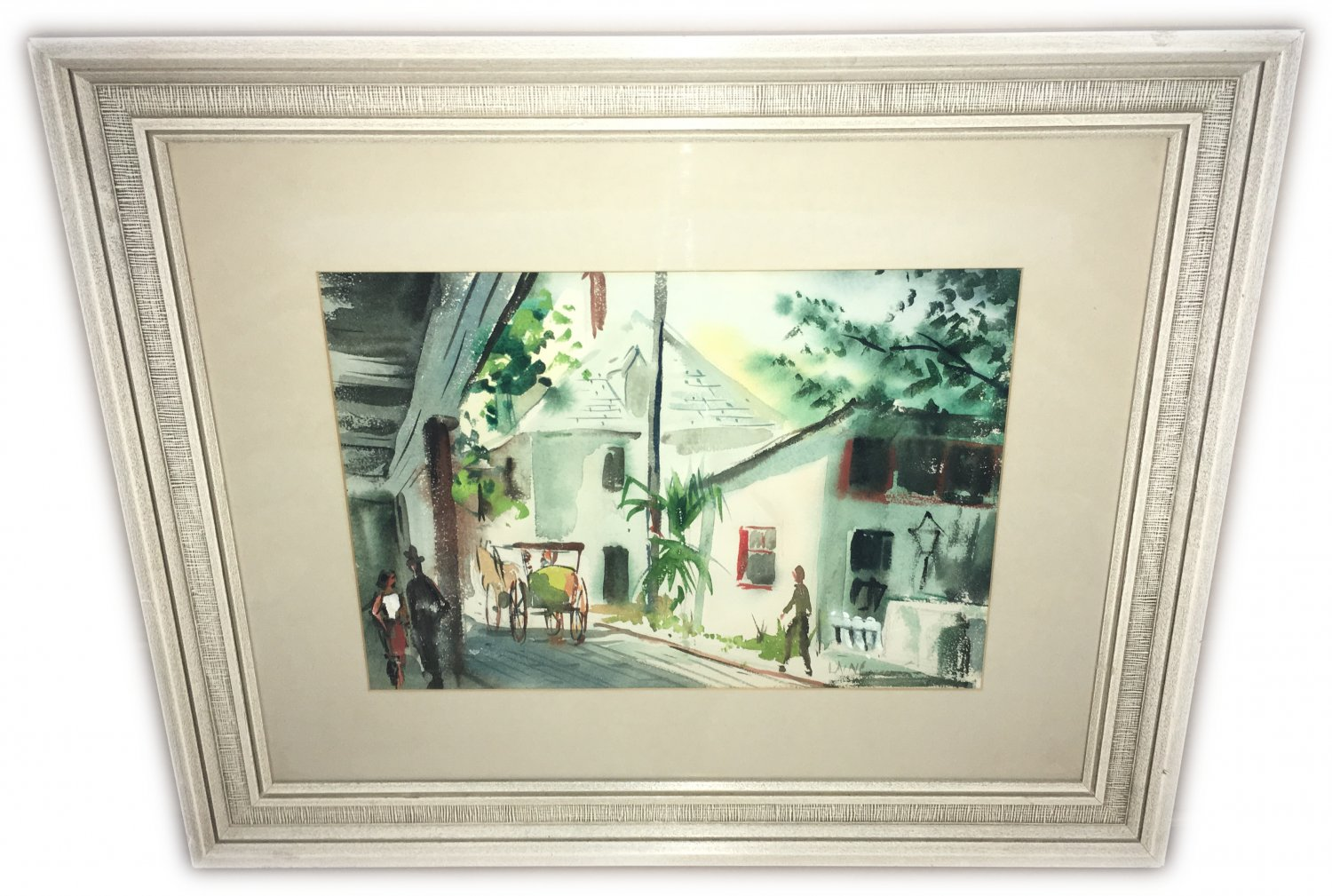 Laine Original Watercolor Painting Framed
