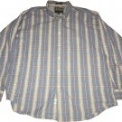 Alexander Julian Long Sleeve Button Up Casual Lounge Plaid Collar Shirt XL