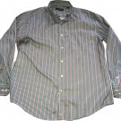 Kenneth Roberts Platinum Button Up Striped Long Sleeve Size XL