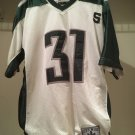 Michigan State Football Jersey #31 White Green City Wide Steve & Barry's Size M