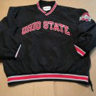 Vintage 90s Phantom Ohio State Black Red Windbreaker / Pullover Embroidered RARE