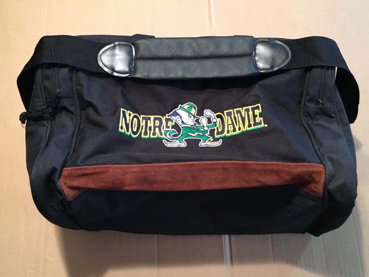 Vintage Notre Dame Duffel Bag, Travel, Gym, Luggage, Accessories A.D.S. Sports