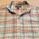 Red Bank Clothing Casual Button Up / Down Collar Green Red Plaid Size XL