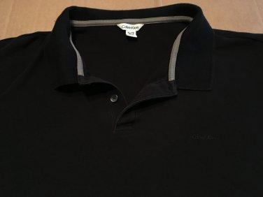 Calvin Klein All Black Polo, Rugby, Golf Men's Size XL