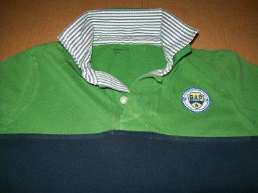 Gap Kids Polo Size Small 4-5 Green Blue