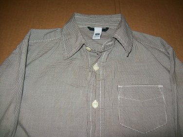 Gap Kids Size XS 4-5 Long Sleeve Collar Button Up / Down Brown Plaid