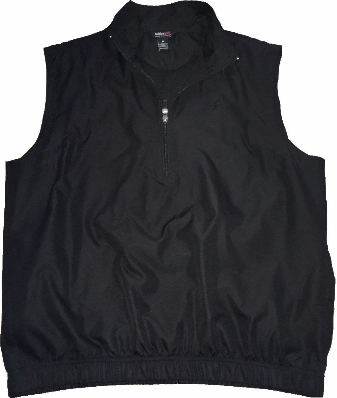 Bubba Golf Steve and Barry's Windbreaker Zip Vest with Pockets Black Size Medium