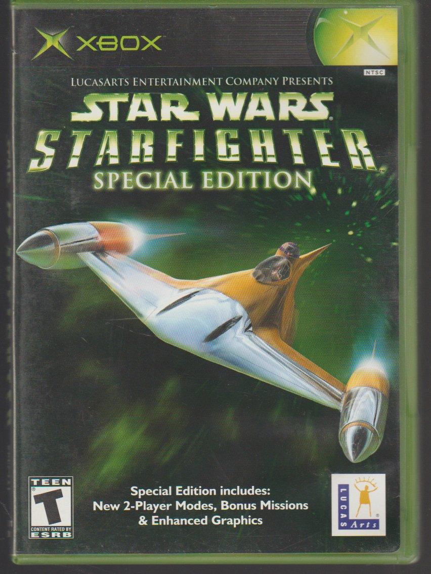 Star Wars Star fighter Special Edition Microsoft X-Box