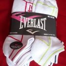 6 Pair Women Everlast Running No Show Socks Medium Cushion Sole 9-11