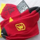 2 Pair Ecko Unlimited Men Crew Socks Large Red Yellow  Black Rhino 6 1/2-12