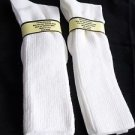 2 Pair Womens Over the Calf Diabetic Sock 100% Cotton 5-10 Made in USA White
