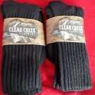 2 Pair Large Clear Creek Triple Cushion Nonbinding Top Cotton Sock 10-13 USA