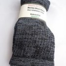 1 Pair Pocono 82%  Merino Wool Hiker Women Socks USA Shoe 5-10 Black/grey