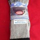 1 Pair Large Clear Creek 67% Merino Wool Heavy Hikers Sock 6-12 USA Black
