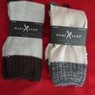 2 Pair Large Marc Ecko Cut & Sew Cotton Crew Socks 6-12 White
