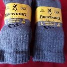 4 Pair Large Browning Cotton Hiker Work Boot Socks 9-13 Arch Support Made in USA