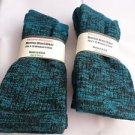 2 Pair Pocono 82%  Merino Wool Hiker Women Socks USA Shoe 5-10 Black Aqua