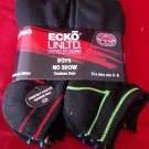 6 Pair Ecko Unlimited Boys No Show Boat Socks Soft and Durable Black Line 3-9