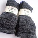 2 Pair Pocono 82%  Merino Wool Hiker Women Socks USA Shoe 5-10 Black/grey