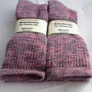 2 Pair Pocono 82%  Merino Wool Hiker Women Socks USA Shoe 5-10 Black/Pink