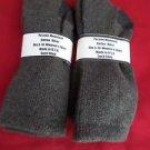 2 Pair Womens Medium Pocono Cotton Crew Boot Hiker Warm Sock 5-10 Brown USA